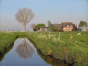 Photo: Weerspiegeling langs de Hoekseweg