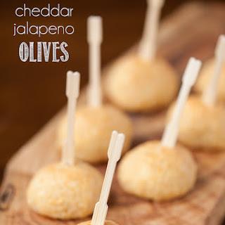 Warm Cheddar Jalapeno Olives