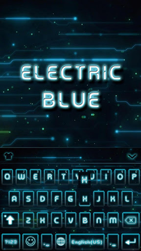 Electric Blue Keyboard Theme
