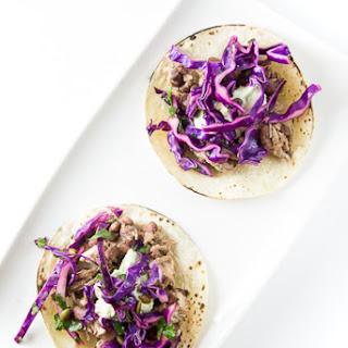 Shredded Pork Tacos with Pepita Slaw.