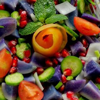 Purple Potato Salad with Grapefruit Vinaigrette