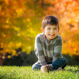 Fall Happiness by Sue Matsunaga - Babies & Children Child Portraits