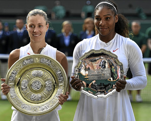 Angelique Kerber and Serena Williams. Picture: REUTERS
