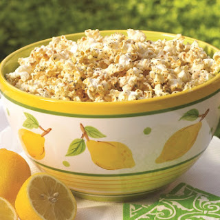 Lemon Poppy Seed Glazed Popcorn