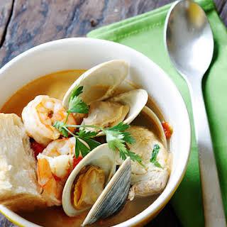 Halibut and Shellfish Soup.