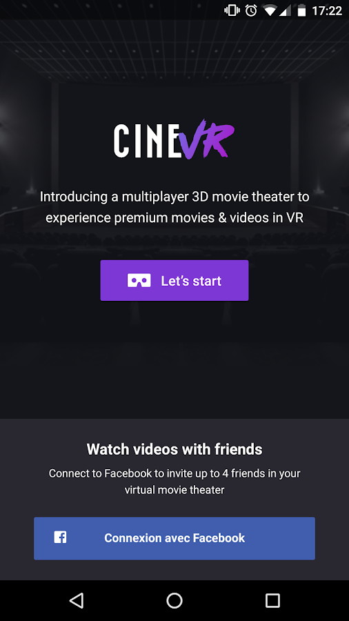 CINEVR social VR movie theater- screenshot