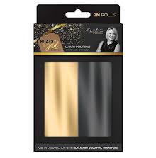 Sara Davies Black & Gold Foil Rolls 2pk