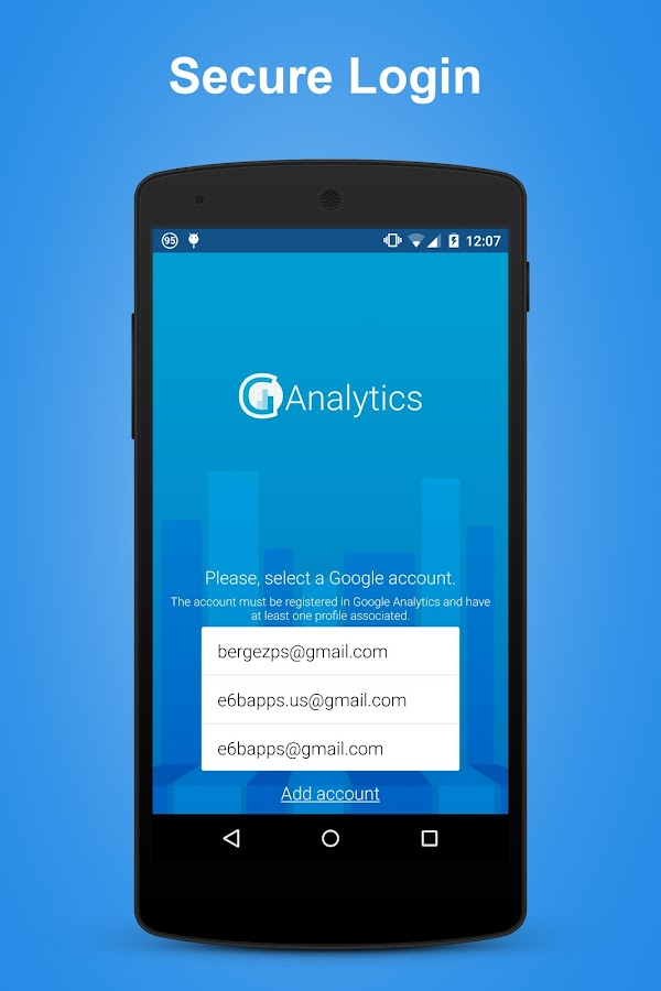 gAnalytics - Google Analytics- screenshot