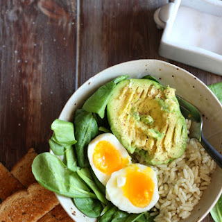 Healthy Avocado and Egg Lunch Bowl.