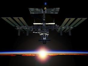 Photo: CG - Rising Sun on ISS