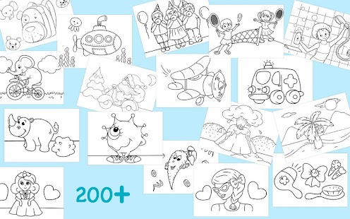 First Coloring Book For Kindergarten Kids Mod Apk