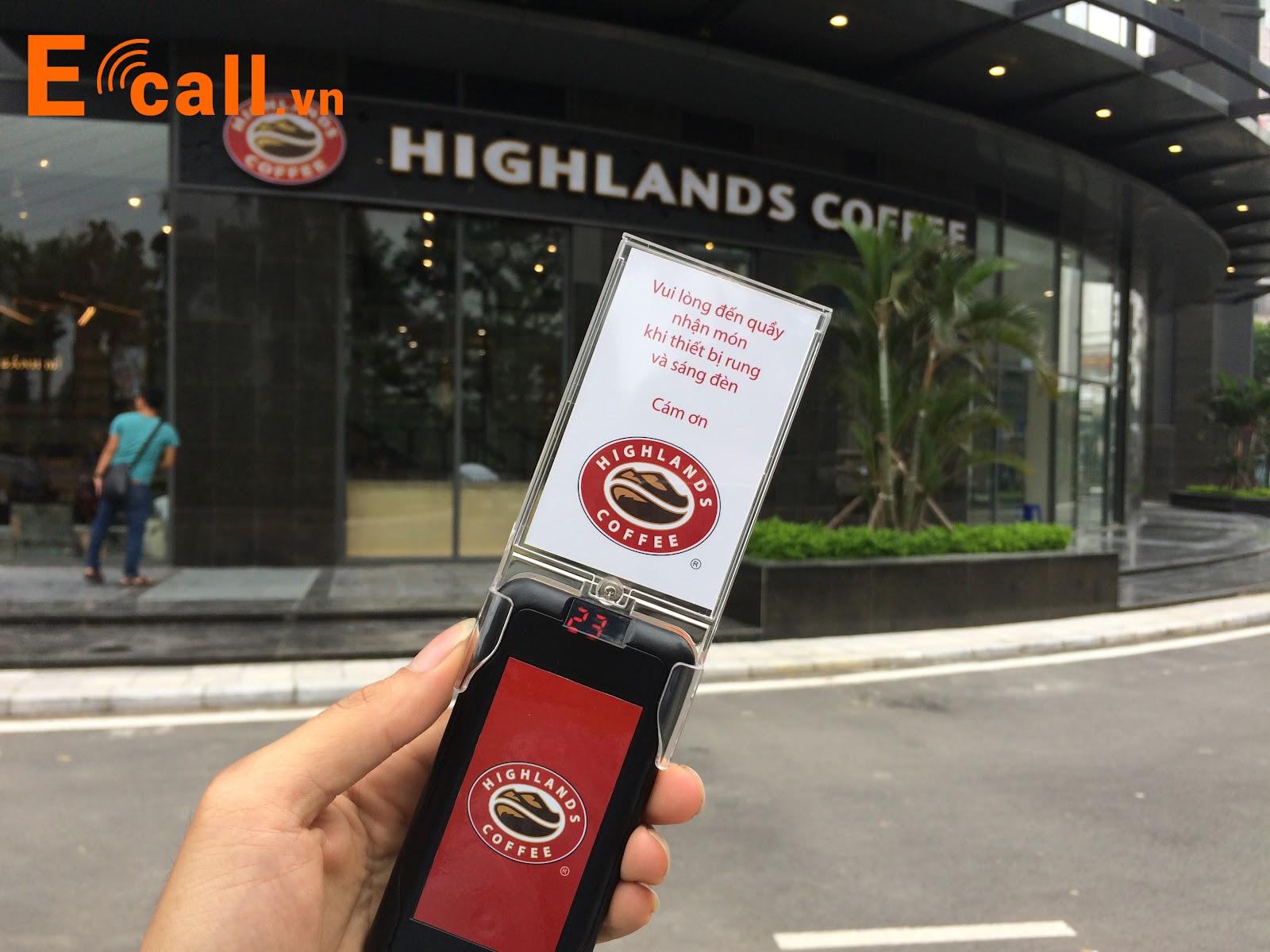 thẻ rung tự phục vụ tại highlands tố hữu