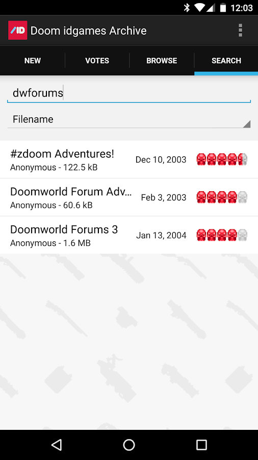 Doom idgames Archive- screenshot