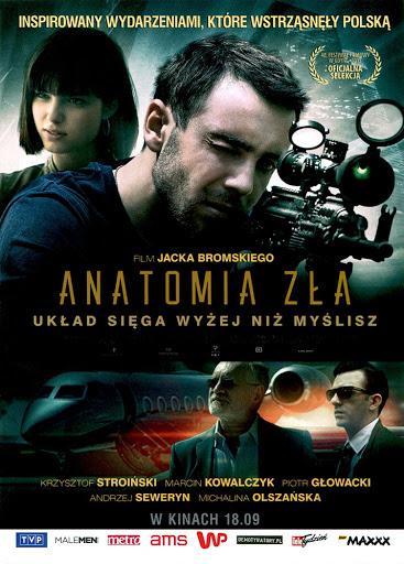 Przód ulotki filmu 'Anatomia Zła'
