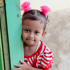 Sneak by Travis Borland - Babies & Children Child Portraits ( child, girl, innocence, asian )