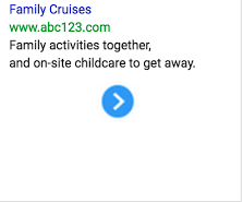 Imagen de anuncio de texto para cruceros familiares