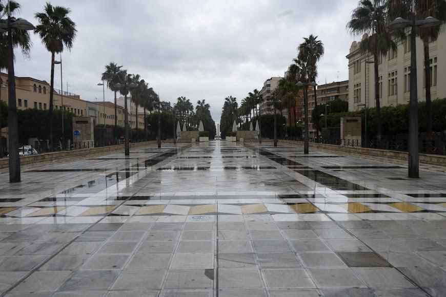 Imagen este martes de la Rambla de Almería.
