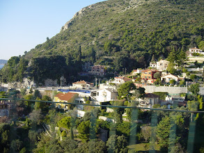 Photo: Farther along in Beaulieu, typical homes on the hillside.
