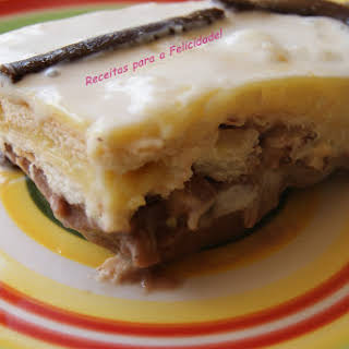 Chocolate and Vanilla Mille-feuille Pudding.