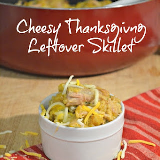 Cheesy Thanksgiving Turkey Leftover Skillet
