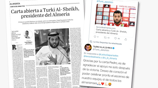 """Turki agradece la carta del director de LA VOZ: """"Deseo celebrar el ascenso"""""""