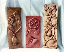 Photo: Cuadro de los pájaros: 55 x 22 cm. || Talla en madera. Woodcarving.   Puedes conocer más de este artista en el blog: http://tallaenmadera-woodcarving-esculturas.blogspot.com/