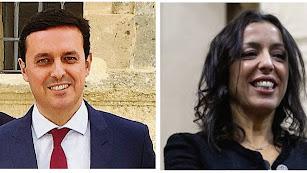 Javier Aureliano García y Marta Bosquet.