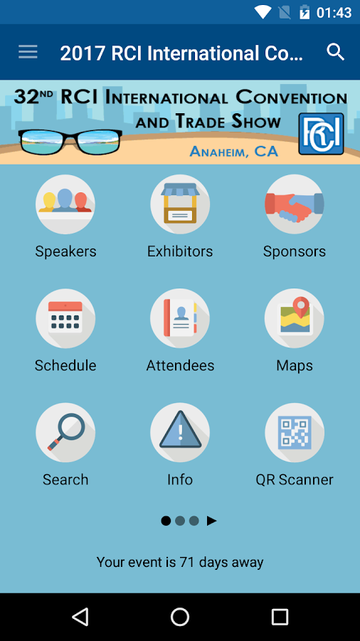 RCI, Inc. Convention- screenshot