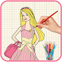 How To Draw Barbie - Step By Step Easy APK icon
