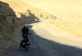 Photo: Day 167 -  Rog on one of the Climbs on the Road Between  Pendzhiikent and Ayni