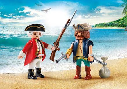 Contenido real de Playmobil® 9446 Duo Pack Pirata y Soldado