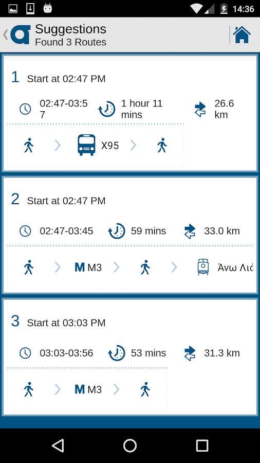 OASA Telematics- screenshot