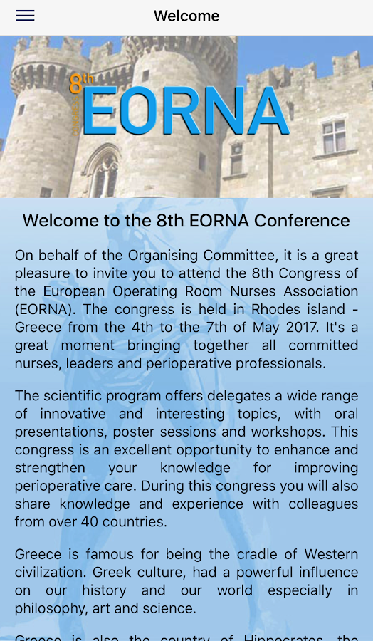 EORNA 2017 Conference- screenshot