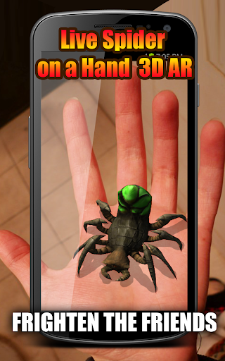 Live Spider on a Hand 3D AR