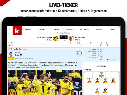 kicker Fußball News 6.6.0 screenshots 10