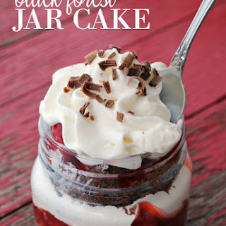 Black Forest Jar Cakes.