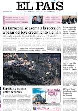 Photo: La Eurozona se asoma a la recesión a pesar del leve crecimiento alemán en la portada y el peor año de incendios coincide con el de menos efectivos contra el fuego edición nacional, en la portada de la edición nacional del miércoles 15 de agosto de 2012 http://srv00.epimg.net/pdf/elpais/1aPagina/2012/08/ep-20120815.pdf