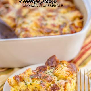 Ham & Cheese Croissant Casserole Recipe