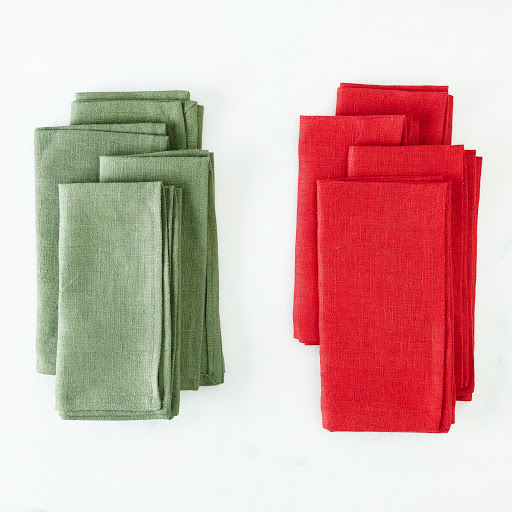 Holiday Linen Napkins (Set of 4)