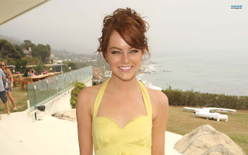 Photo: COMMENT with your birthday wishes for Emma Stone! SEE Emma backstage at Calvin Klein: http://youtu.be/Tllgufht4JM