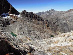 Photo: Tarn below Pico Bonpland (left), Pico Bolivar in the background