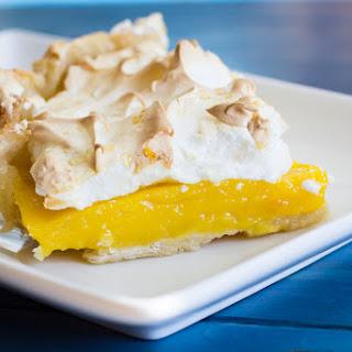 Meyer Lemon Orange Meringue Pie.
