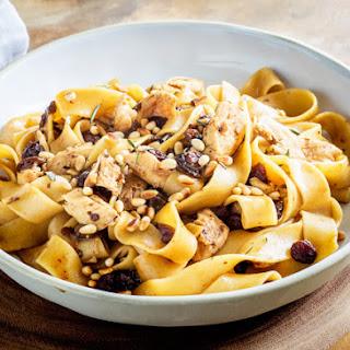 Venetian Chicken pasta with Pinenuts, Rosemary andSultanas.