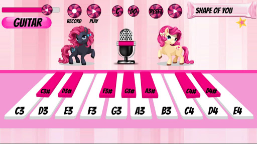 Girl Piano : Pink Piano android2mod screenshots 4