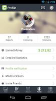 Screenshot of Clashot: Take pics, make money