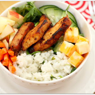 Chicken and Cilantro Rice Salad Bowl.