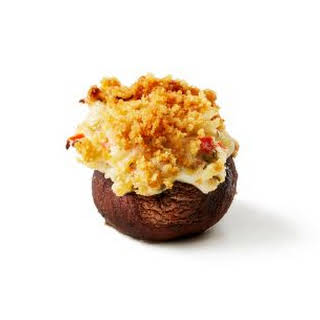 Crispy Crab Stuffed Mushrooms.