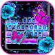 Neon Flower Butterfly Keyboard Theme Apk