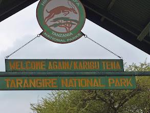 Photo: Gate to the Tarangire National Park