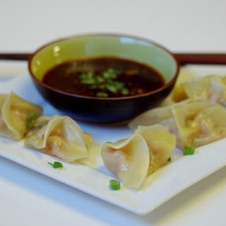 Steamed Shrimp Dumplings with Dipping Sauce.